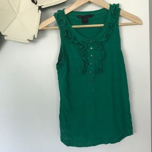 Marc by Marc Jacobs green ruffle tank top Small